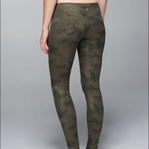 Lululemon Athletica Pants Jumpsuits Lululemon Camo Leggings Poshmark
